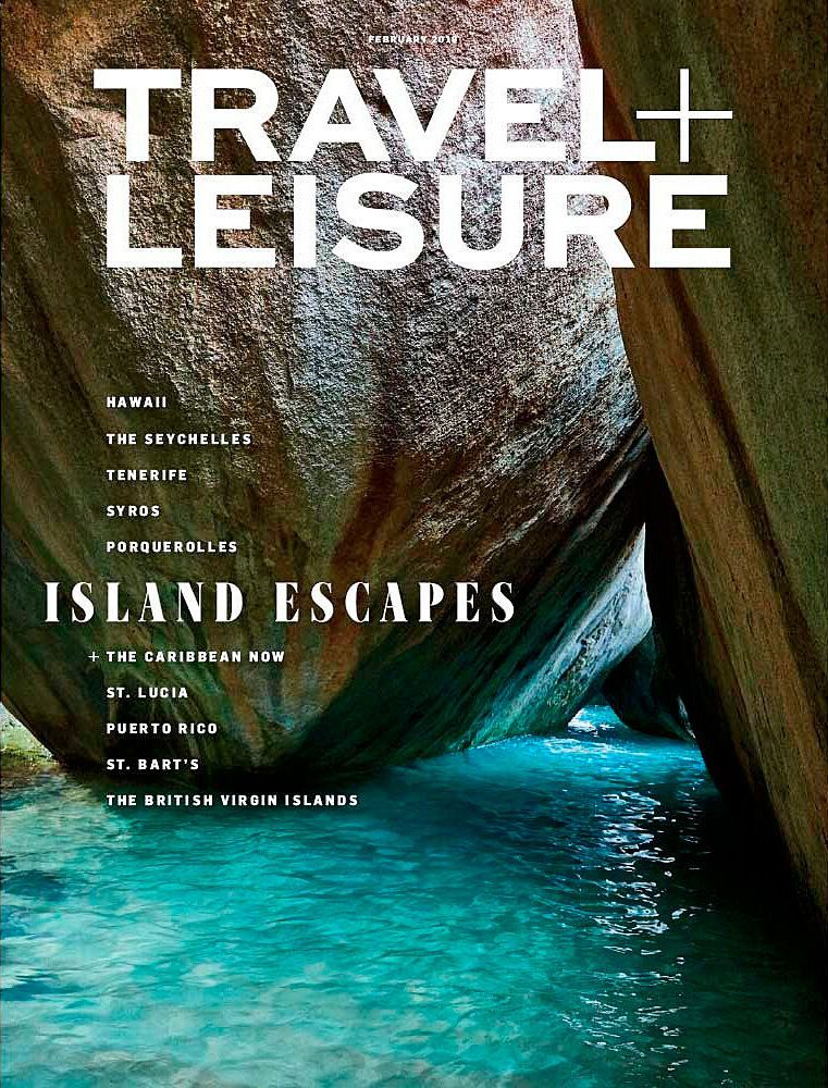 Cover of Travel + Leisure Magazine.